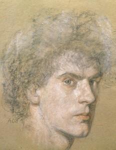 self-portrait-c1919-coloured-chald-on-paper